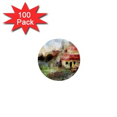 Old Spanish Village 1  Mini Buttons (100 pack)
