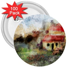 Old Spanish Village 3  Buttons (100 pack)