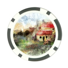 Old Spanish Village Poker Chip Card Guard