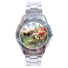 Old Spanish Village Stainless Steel Analogue Watch