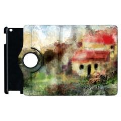 Old Spanish Village Apple Ipad 2 Flip 360 Case