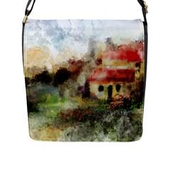 Old Spanish Village Flap Messenger Bag (L)