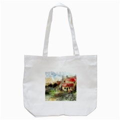 Old Spanish Village Tote Bag (white)