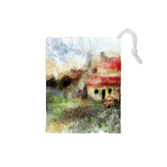 Old Spanish Village Drawstring Pouches (Small)