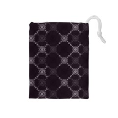 Abstract Seamless Pattern Background Drawstring Pouches (Medium)