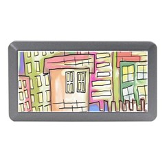 A Village Drawn In A Doodle Style Memory Card Reader (Mini)