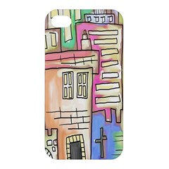 A Village Drawn In A Doodle Style Apple iPhone 4/4S Premium Hardshell Case