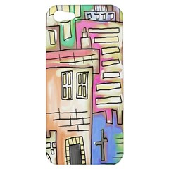 A Village Drawn In A Doodle Style Apple iPhone 5 Hardshell Case