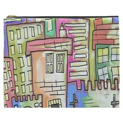 A Village Drawn In A Doodle Style Cosmetic Bag (XXXL)