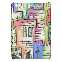 A Village Drawn In A Doodle Style Apple iPad Mini Hardshell Case
