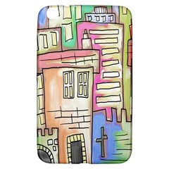 A Village Drawn In A Doodle Style Samsung Galaxy Tab 3 (8 ) T3100 Hardshell Case
