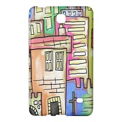A Village Drawn In A Doodle Style Samsung Galaxy Tab 4 (8 ) Hardshell Case