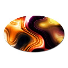 Colourful Abstract Background Design Oval Magnet
