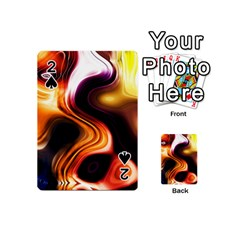 Colourful Abstract Background Design Playing Cards 54 (Mini)