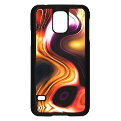 Colourful Abstract Background Design Samsung Galaxy S5 Case (Black)