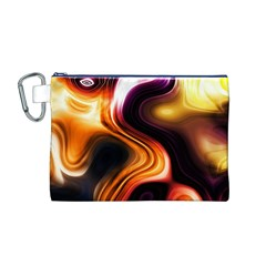 Colourful Abstract Background Design Canvas Cosmetic Bag (M)