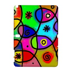 Digitally Painted Colourful Abstract Whimsical Shape Pattern Galaxy Note 1
