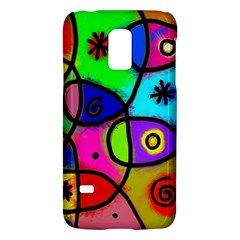 Digitally Painted Colourful Abstract Whimsical Shape Pattern Galaxy S5 Mini