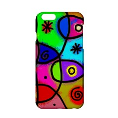 Digitally Painted Colourful Abstract Whimsical Shape Pattern Apple iPhone 6/6S Hardshell Case