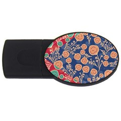 Floral Seamless Pattern Vector Texture USB Flash Drive Oval (4 GB)