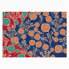 Floral Seamless Pattern Vector Texture Large Glasses Cloth (2-Side)