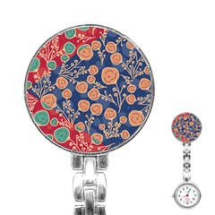 Floral Seamless Pattern Vector Texture Stainless Steel Nurses Watch