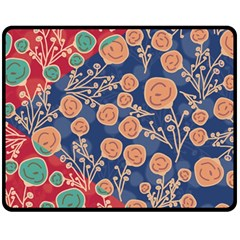 Floral Seamless Pattern Vector Texture Double Sided Fleece Blanket (Medium)