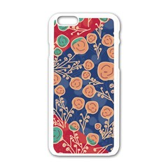 Floral Seamless Pattern Vector Texture Apple iPhone 6/6S White Enamel Case