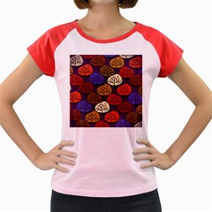 Colorful Trees Background Pattern Women s Cap Sleeve T-Shirt