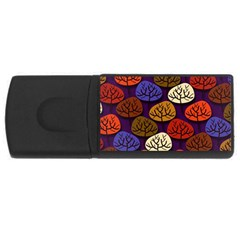Colorful Trees Background Pattern USB Flash Drive Rectangular (1 GB)
