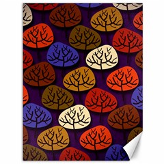 Colorful Trees Background Pattern Canvas 36  x 48