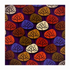Colorful Trees Background Pattern Medium Glasses Cloth
