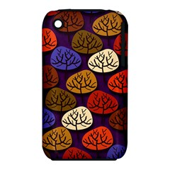 Colorful Trees Background Pattern iPhone 3S/3GS