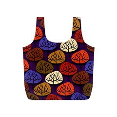 Colorful Trees Background Pattern Full Print Recycle Bags (S)