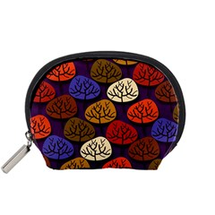 Colorful Trees Background Pattern Accessory Pouches (Small)