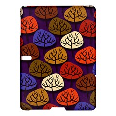 Colorful Trees Background Pattern Samsung Galaxy Tab S (10.5 ) Hardshell Case