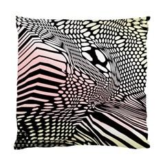 Abstract Fauna Pattern When Zebra And Giraffe Melt Together Standard Cushion Case (Two Sides)