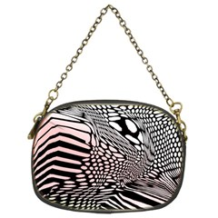 Abstract Fauna Pattern When Zebra And Giraffe Melt Together Chain Purses (Two Sides)