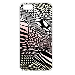 Abstract Fauna Pattern When Zebra And Giraffe Melt Together Apple iPhone 5 Seamless Case (White)