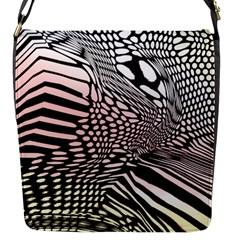Abstract Fauna Pattern When Zebra And Giraffe Melt Together Flap Messenger Bag (S)