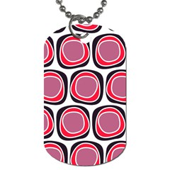 Wheel Stones Pink Pattern Abstract Background Dog Tag (One Side)