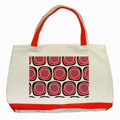 Wheel Stones Pink Pattern Abstract Background Classic Tote Bag (Red)