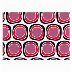 Wheel Stones Pink Pattern Abstract Background Large Glasses Cloth