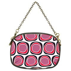 Wheel Stones Pink Pattern Abstract Background Chain Purses (Two Sides)