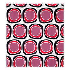 Wheel Stones Pink Pattern Abstract Background Shower Curtain 66  x 72  (Large)