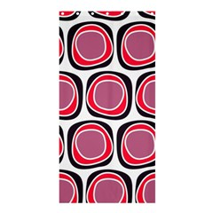 Wheel Stones Pink Pattern Abstract Background Shower Curtain 36  x 72  (Stall)