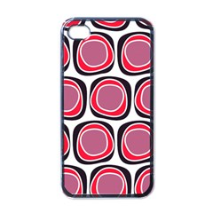 Wheel Stones Pink Pattern Abstract Background Apple iPhone 4 Case (Black)