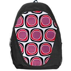 Wheel Stones Pink Pattern Abstract Background Backpack Bag