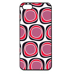 Wheel Stones Pink Pattern Abstract Background Apple iPhone 5 Seamless Case (Black)