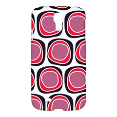 Wheel Stones Pink Pattern Abstract Background Samsung Galaxy S4 I9500/I9505 Hardshell Case